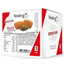 Biscotti e Dolci Feeling Ok, Biscottone Cacao, 6 x 25 g (150 g)
