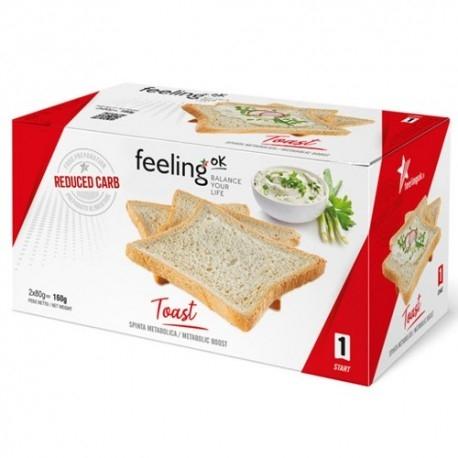Pane e Prodotti da Forno Feeling OK, Toast Start , 160 g (4 x 40 g)