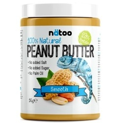 Burro di Arachidi Natoo, 100% Natural Peanut Butter, 1000 g.