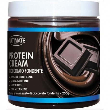 Creme Proteiche Ultimate Italia, Protein Cream Cioccolato Fondente, 250 g