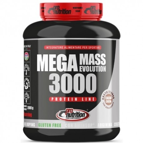 Gainers Pro Nutrition, Mega Mass Evolution 3000, 2000 g.