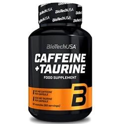 Tonici - Energizzanti Biotech Usa, Caffeine+ Taurine, 60 cps.