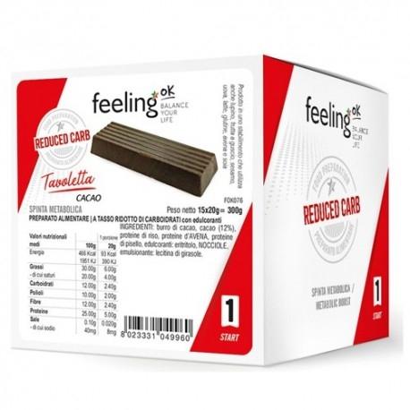 Biscotti e Dolci Feeling Ok, Tavoletta cacao, 15 x 20 g