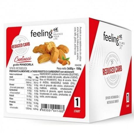Pasti e Snack Proteici Feeling OK, Cantucci, 3 x 50 g
