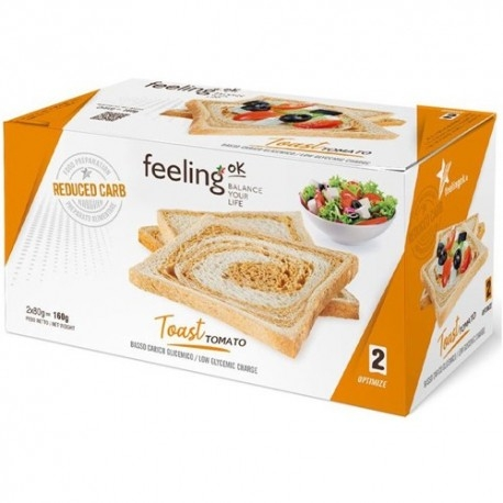 Pane e Prodotti da Forno Feeling Ok, Toast Tomato Optimize, 2 x 80 g (160 g)