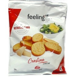 Pasti e Snack Feeling OK, Crostino Cheese, 50 g