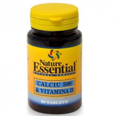 Calcio Nature Essential, Calcio + Vitamina D, 50 cpr
