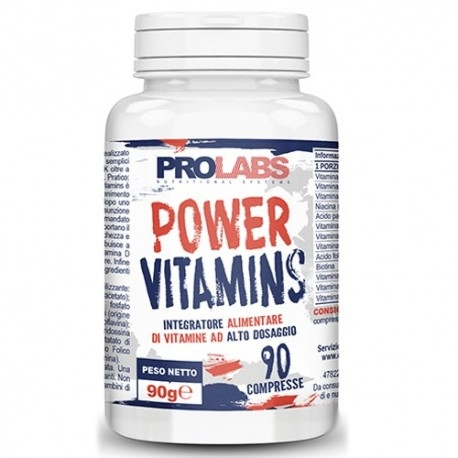 Multivitaminici - Multiminerali Prolabs, Power Vitamins, 90cpr.