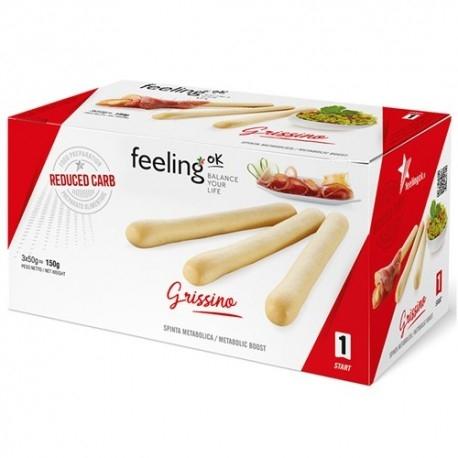 Pane e Prodotti da Forno Feeling Ok, Grissi, 3 x 50 g.
