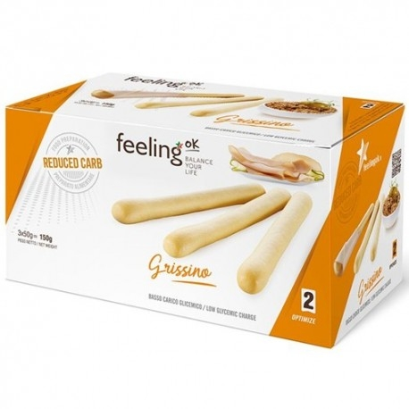 Pane e Prodotti da Forno Feeling Ok, Grissini Optimize, 3 x 50 g.