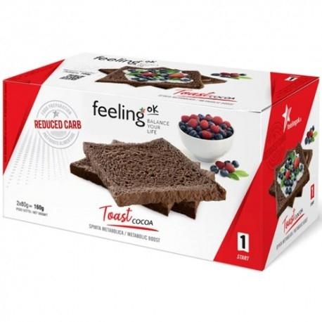 Pane e Prodotti da Forno Feeling Ok, Toast Cocoa, (2 x 80 g)
