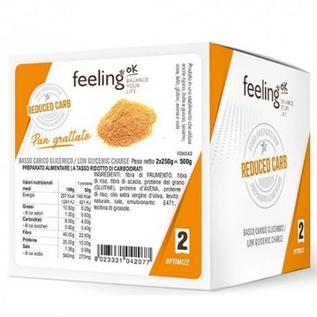 Pane e Prodotti da Forno Feeling Ok, Pan Grattato Optimize, 500 g (2 x 250 g)