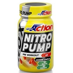 Pre Workout Proaction, Nitro Pump, 60 cpr.