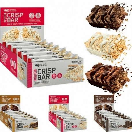 Barrette proteiche Optimum Nutrition, Crispy Bar, 65 g (Sc.04/2020)