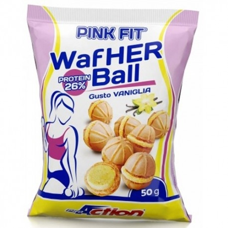 Pasti e Snack Proaction, Pink Fit Wafher Ball, 50 g.