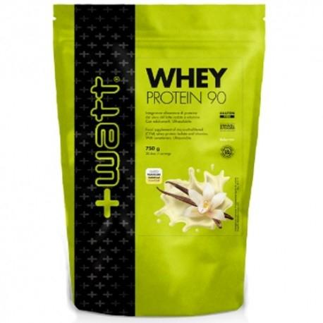 Proteine del Siero del Latte (whey) +Watt, Whey Protein 90, 750g. Sacchetto