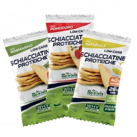 Pasti e Snack WHY Nature, Schiacciatine Proteiche, 30 g