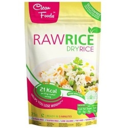Pasta e Riso Clean Foods, Raw Rice Dry, 75 g