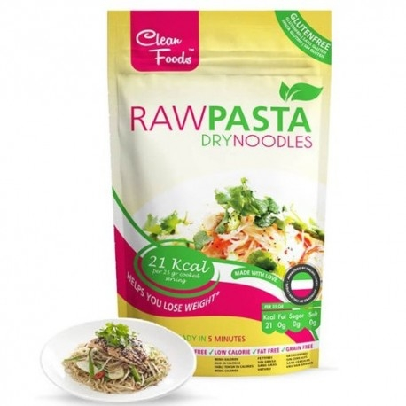 Pasta e Riso Clean Foods, Raw Pasta Dry Noodles, 75 g
