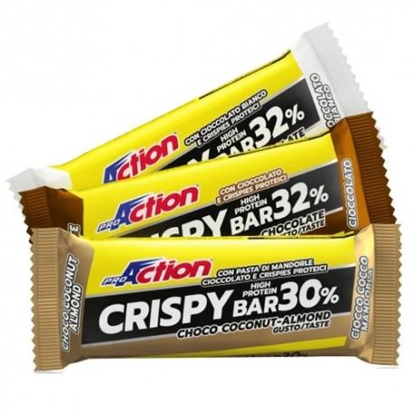 Barrette proteiche Proaction, Crispy Bar, 50 g.