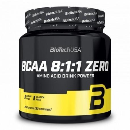 Aminoacidi Ramificati (Bcaa) Biotech Usa, Bcaa 8:1:1 Zero, 250 g.
