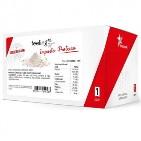 Farine Feeling Ok, Impasto proteico, (2 x 300 g.)