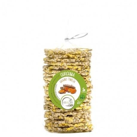 Biscotti e Dolci +Watt, Gallette Curcuma Bio, 90 g
