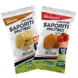 Pasti e Snack WHY Nature, Saporiti Proteici, 30 g