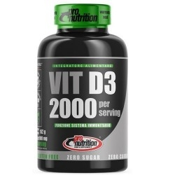 Vitamina D Pro Nutrition, Vitamina D3 2000 UI, 180 cpr
