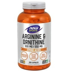 Arginina Now Foods, Arginine & Ornithine, 250 cps