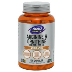 Arginina Now Foods, Arginine & Ornithine, 100 cps