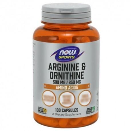 Arginina Now Foods, Arginine & Ornithine, 100 cps