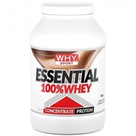 Proteine del Siero del Latte (whey) WHY Sport, Essential 100% Whey, 900 g