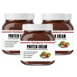 Creme Spalmabili Proteiche FlorioSport, Protein Cream, 3 x 400 g