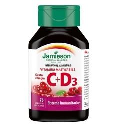 Vitamina C Jamieson, Vitamina C+D3, 75 cpr