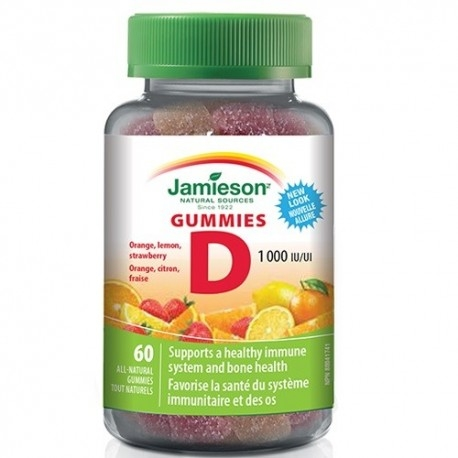 Vitamina D Jamieson, Vitamina D Gummies, 60 cpr