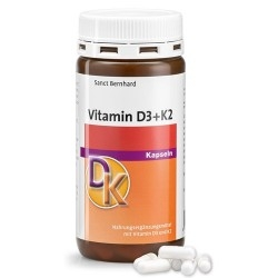 Vitamina D Sanct Bernhard, Vitamina D3+K2, 180 cps