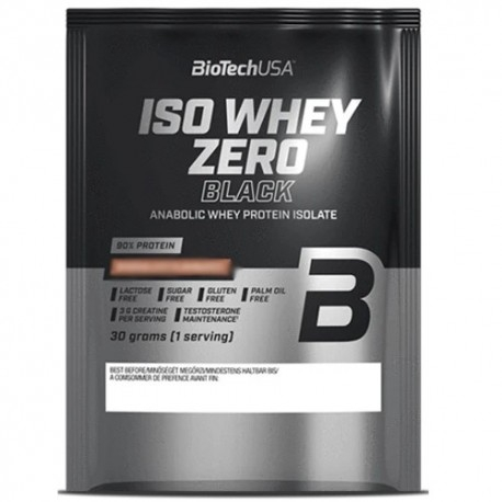 Proteine del Siero del Latte (whey) BioTech Usa, Iso Whey Zero Black, 30 g