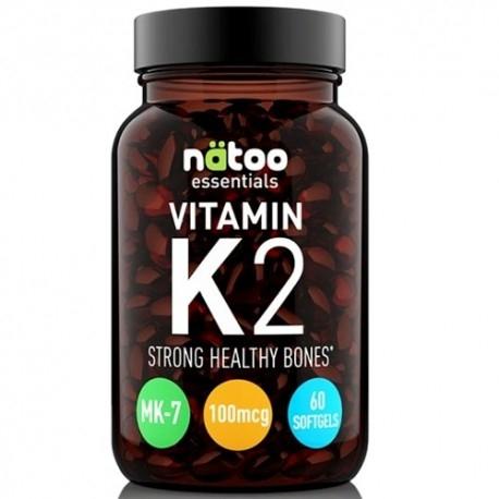 Vitamina K Natoo, Essentials Vitamin K2, 60 cps