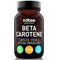 Vitamina A Natoo, Essentials Betacarotene, 60 cps