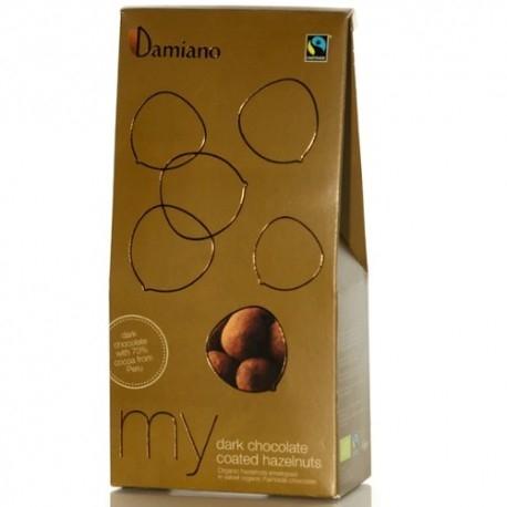 Frutta Secca Damiano Organic, Nocciole Cioccolato Fondente, 100 g