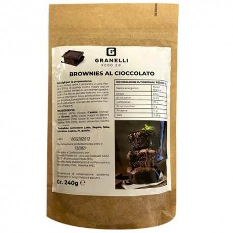 Biscotti e Dolci Granelli Food, Preparato per Brownies Proteici, 240 g