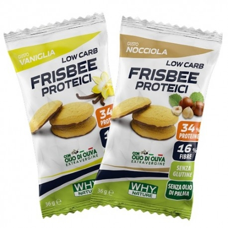 Biscotti e Dolci Why Nature, Frisbee Proteici, 36 g