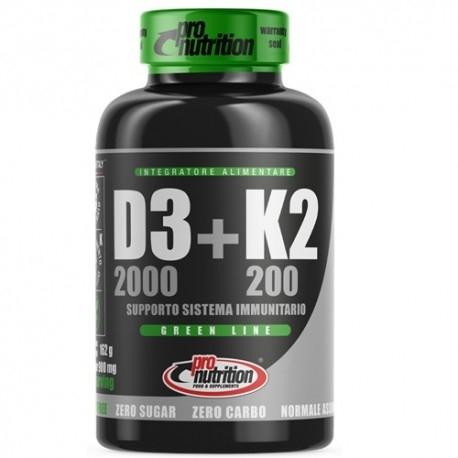 Vitamina D Pro Nutrition, Vitamina D3+K2, 120 cpr