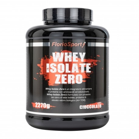Proteine del Siero del Latte (whey) FlorioSport, Whey Isolate Zero, 2270 g
