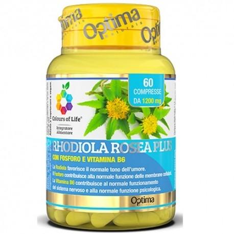 Rodiola Rosea Optima Naturals, Rhodiola Rosea Plus, 60 cpr