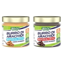 Burro di Arachidi WHY Nature, Burro di arachidi Smooth aromatizzato, 350 g