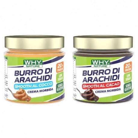 Burro di Arachidi WHY Nature, Burro di arachidi Smooth aromatizzato, 350 g