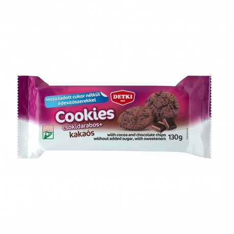 Biscotti e Dolci Detki, Cookies Cacao, 130 g