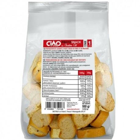 Pasti e Snack Ciao Carb, Protosnack Crostino Stage 1, 100 g